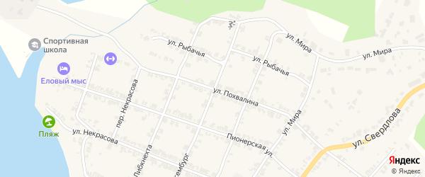 Улица Похвалина на карте Нязепетровска с номерами домов