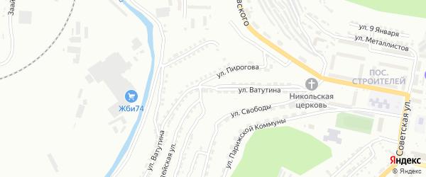 Улица им Н.Ф.Ватутина на карте Златоуста с номерами домов