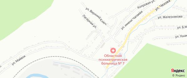 Лагерная улица на карте Златоуста с номерами домов