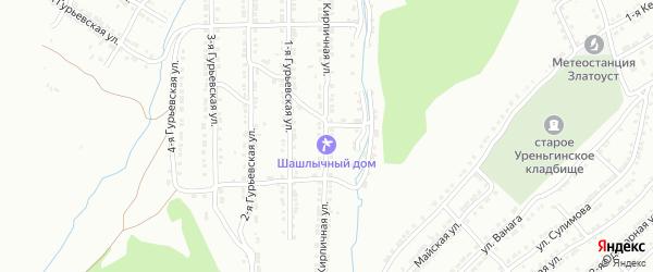 Малая Кирпичная улица на карте Златоуста с номерами домов