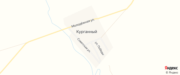 Карта Курганного поселка в Челябинской области с улицами и номерами домов