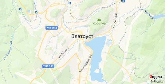Карта Златоуста с улицами и домами подробная. Показать со спутника номера домов онлайн