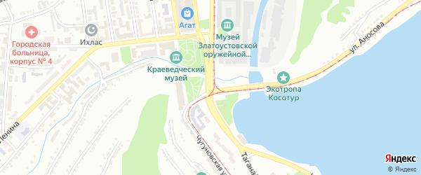Посадская 1-я улица на карте Златоуста с номерами домов