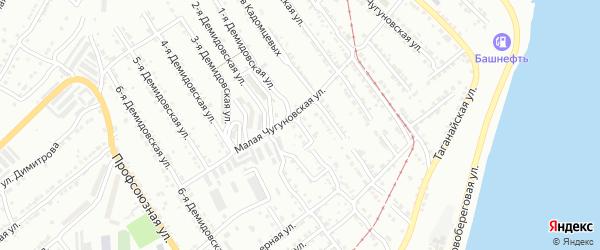 Демидовская 1-я улица на карте Златоуста с номерами домов