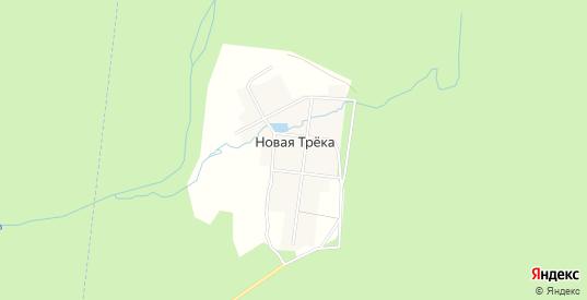 Карта поселка Новая Трека в Первоуральске с улицами, домами и почтовыми отделениями со спутника онлайн