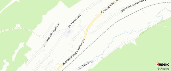 Железнодорожная остановка Таганай на карте Златоуста с номерами домов