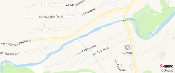 Береговая улица на карте поселка Магнитки Челябинской области с номерами домов