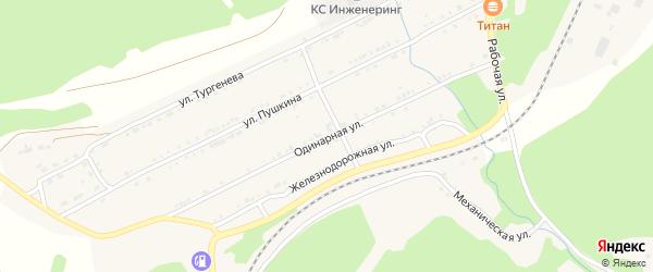 Одинарная улица на карте поселка Магнитки Челябинской области с номерами домов