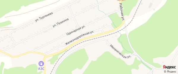 Рабочая улица на карте поселка Магнитки с номерами домов
