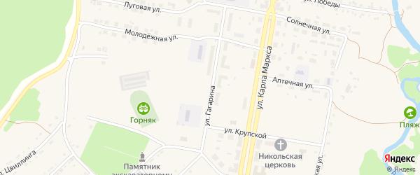 Улица Гагарина на карте поселка Магнитки с номерами домов