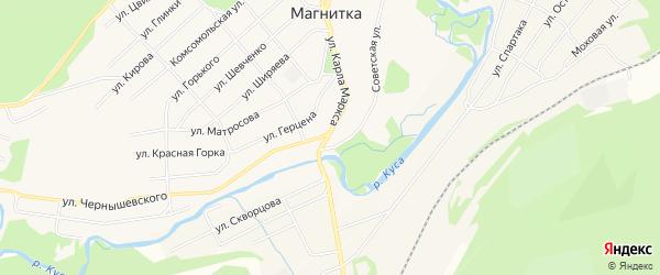 Карта поселка Магнитки в Челябинской области с улицами и номерами домов