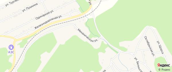 Механическая улица на карте поселка Магнитки Челябинской области с номерами домов
