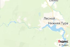 Карта г. Лесной Свердловская область