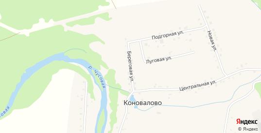 Береговая улица в деревне Коновалово в Первоуральске с номерами домов на карте. Спутник и схема онлайн