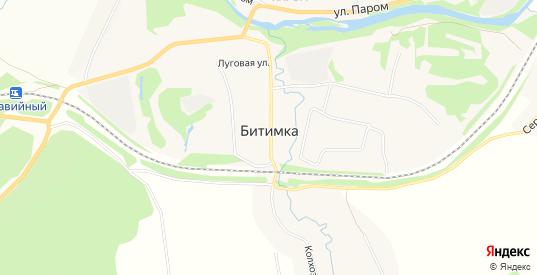 Карта села Битимка в Первоуральске с улицами, домами и почтовыми отделениями со спутника онлайн