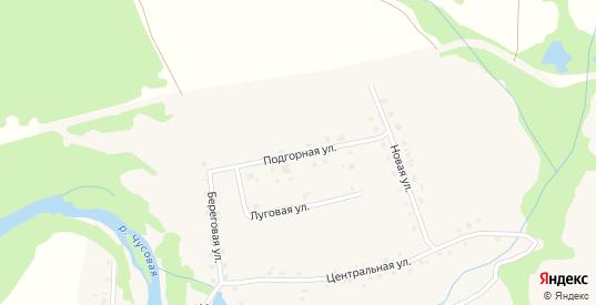 Подгорная улица в деревне Коновалово в Первоуральске с номерами домов на карте. Спутник и схема онлайн