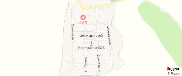 Пионерская улица на карте Фоминского поселка с номерами домов