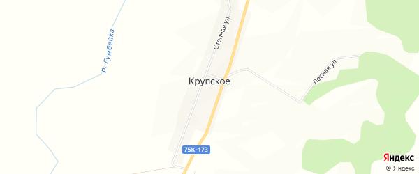 Карта Крупского села в Челябинской области с улицами и номерами домов