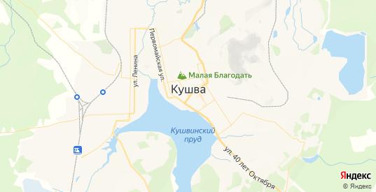 Карта Кушвы с улицами и домами подробная. Показать со спутника номера домов онлайн