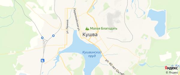 Карта Кушвы с районами, улицами и номерами домов