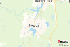 Карта г. Кушва Свердловская область