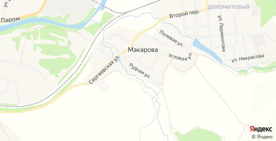 Карта деревни Макарова в Первоуральске с улицами, домами и почтовыми отделениями со спутника онлайн