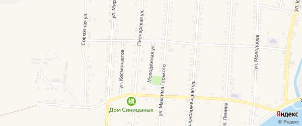 Молодежная улица на карте Верхней Туры с номерами домов
