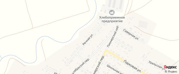 Речная улица на карте села Фершампенуаза Челябинской области с номерами домов
