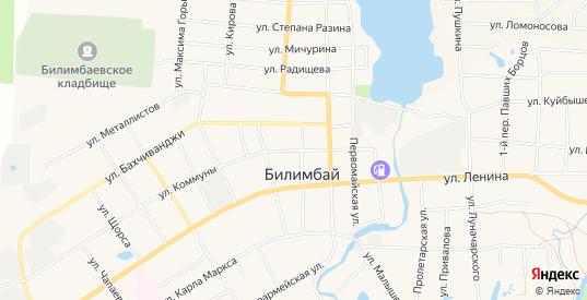 Карта поселка Билимбай в Первоуральске с улицами, домами и почтовыми отделениями со спутника онлайн