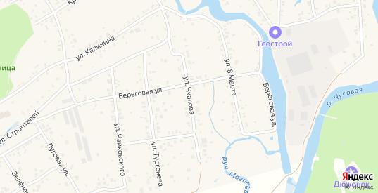 Улица Чкалова в поселке Билимбай в Первоуральске с номерами домов на карте. Спутник и схема онлайн