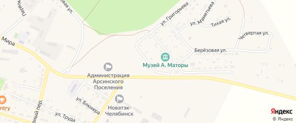 Солнечная улица на карте села Фершампенуаза с номерами домов