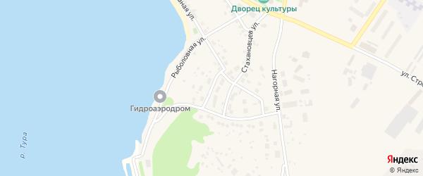 Сиреневая улица на карте Нижней Туры с номерами домов