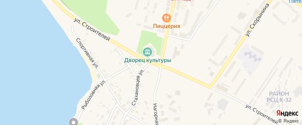 Улица Строителей на карте Нижней Туры с номерами домов