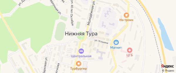 Территория Овощехранилище (Советская) на карте Нижней Туры с номерами домов