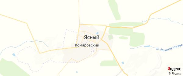 Карта Ясного с районами, улицами и номерами домов