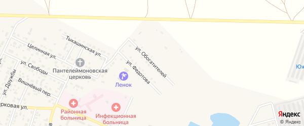 Улица Обогатителей на карте Ясного с номерами домов