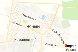 Карта г. Ясный Оренбургская область