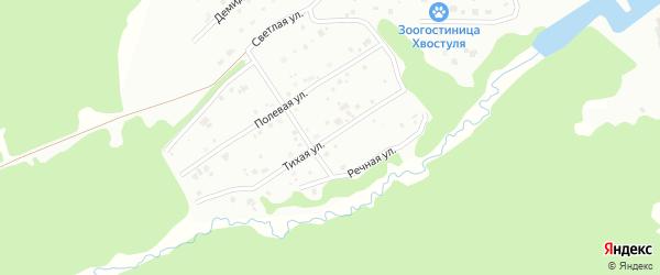 Тихая улица на карте Ревды с номерами домов