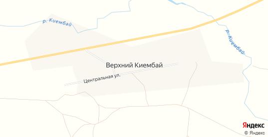 Карта села Верхний Киембай в Оренбургской области с улицами, домами и почтовыми отделениями со спутника онлайн