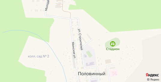 Улица Строителей в поселке Половинный в Верхнем Тагиле с номерами домов на карте. Спутник и схема онлайн