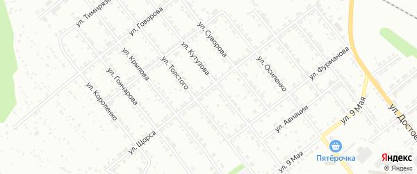 Улица Щорса на карте Ревды с номерами домов