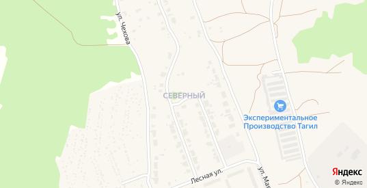 Северный микрорайон в Верхнем Тагиле с номерами домов на карте. Спутник и схема онлайн