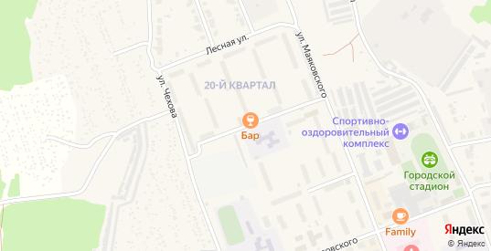 Лесная улица в Верхнем Тагиле с номерами домов на карте. Спутник и схема онлайн