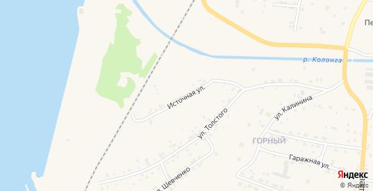Источная улица в Североуральске с номерами домов на карте. Спутник и схема онлайн