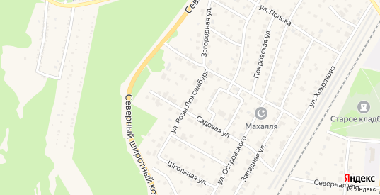Улица Розы Люксембург в Североуральске с номерами домов на карте. Спутник и схема онлайн