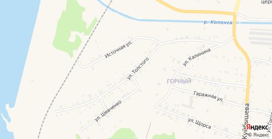 Улица Толстого в Североуральске с номерами домов на карте. Спутник и схема онлайн