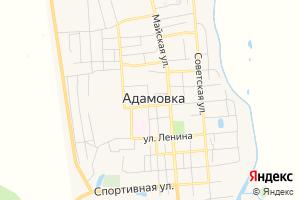 Карта пос. Адамовка Оренбургская область