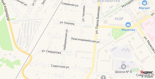 Красноармейская улица в Североуральске с номерами домов на карте. Спутник и схема онлайн