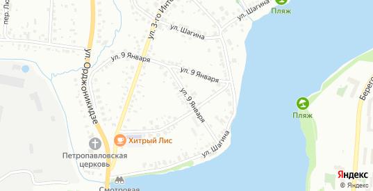 Улица 9 Января в Первоуральске с номерами домов на карте. Спутник и схема онлайн