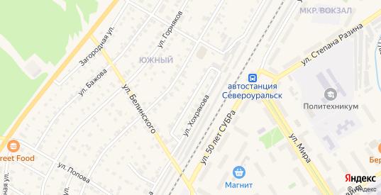 Железнодорожная улица в Североуральске с номерами домов на карте. Спутник и схема онлайн